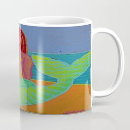 Abstract Mermaid Painting Coffee Mug