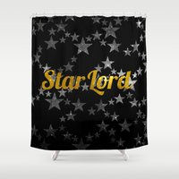 star lord Shower Curtains featuring Golden Star Lord by foreverwars