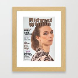Midwest Woman Magazine Cover Parody Framed Art Print