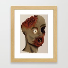 Brainy Zombie Framed Art Print