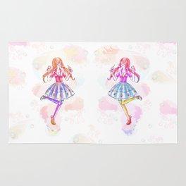 Pastel Unicorn Frap Girl Rug