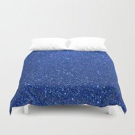 Cobalt Blue Glitter Duvet Cover