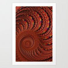 Fiery Spiral Art Print