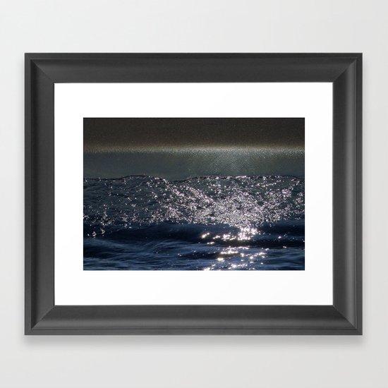 Cosmic Sparkling Ocean Framed Art Print