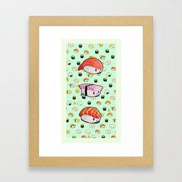 KAWAII SUSHI // <3 SUSHI // TALL Framed Art Print