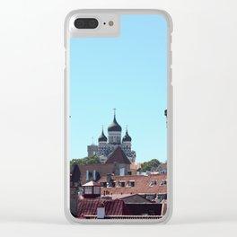 Old Tallinn Skyline Clear iPhone Case