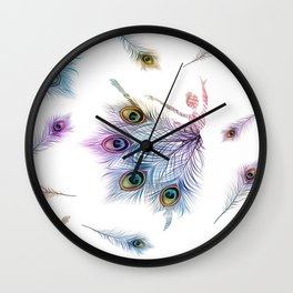 Peacock Dancer Wall Clock