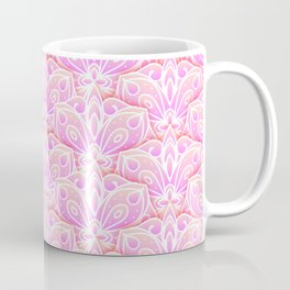 Pink Floral Mandala Pattern Coffee Mug