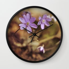 Afternoon impression with liverworts Wall Clock