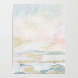 Golden Hour - Pastel Seascape Poster