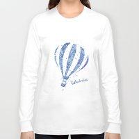 hot air balloon Long Sleeve T-shirts featuring Hot Air Balloon by Carma Zoe