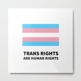 Trans rights are human rights - Trans Flag Metal Print