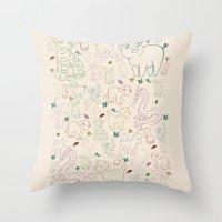 zodiac Throw Pillows featuring zodiac by Kristina Nuetzmann
