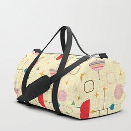 Atomic pattern umbrellas   #midcenturymodern Duffle Bag