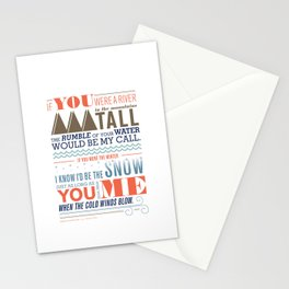 Large – All I Want Is You Stationery Cards