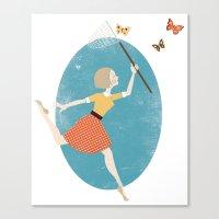 butterflies Canvas Prints featuring Butterflies by Zara Picken