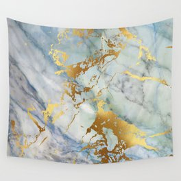 Lovely Marble with Gold Overlay Wall Tapestry