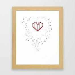 Music Heart Framed Art Print