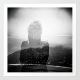 Devastation - Holga Double Exposure - Oregon Coast Art Print