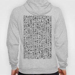 Hieroglyphics B&W / Ancient Egyptian hieroglyphics pattern Hoody