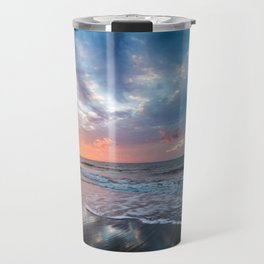 Daybreak at Hilton Head - Sunrise Along Beach at Hilton Head Island in South Carolina Travel Mug