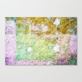 Purple street abstract painting Canvas Print