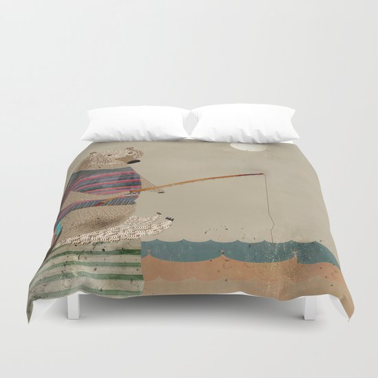 fish for tea Duvet Cover
