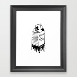 LAIT/MILK Framed Art Print