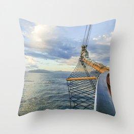 Smooth Sailin' Throw Pillow
