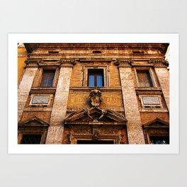 S. Maria in Trivio church in Rome Art Print