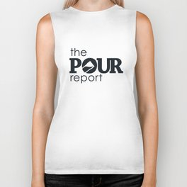 The Pour Report (Black) Biker Tank