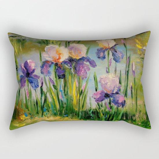 Iris by the pond Rectangular Pillow