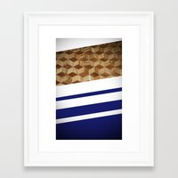 wooden Framed Art Prints featuring Wooden  by Fox Industries