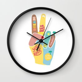 Motivational Peace Sign Wall Clock