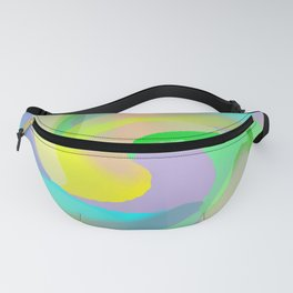Soft Rainbow Abstract - Painterly Fanny Pack