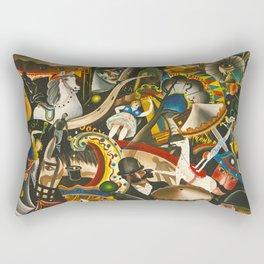 Classical Masterpiece 'The Fair in Utrecht by Pyke Koch Rectangular Pillow
