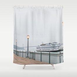 San Francisco Pier Shower Curtain
