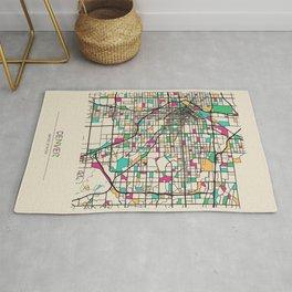 Colorful City Maps: Denver, Colorado Rug
