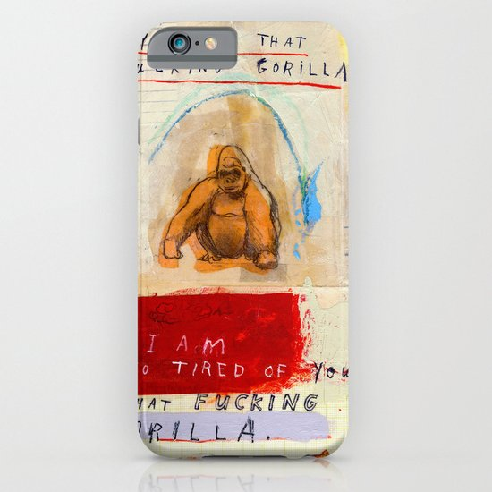 Gratuitous Simian Profanity. iPhone & iPod Case