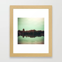 Sparkling red forest Framed Art Print