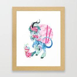 Bubble-Gum Kirin Framed Art Print