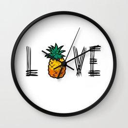 Love Pineapple Wall Clock