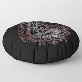 Viking pagan design #3 Floor Pillow