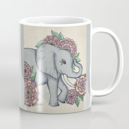 Little Elephant in soft vintage pastels Coffee Mug