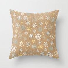 snow flakes pattern Throw Pillow