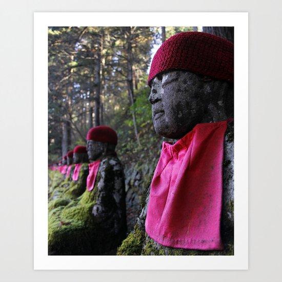 Red Statue Art Print