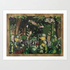 Tending to the Wounded, Vietnam Art Print