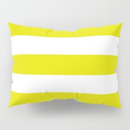 Peridot - solid color - white stripes pattern Pillow Sham