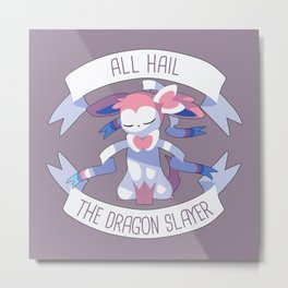 All Hail Sylveon V2 Metal Print
