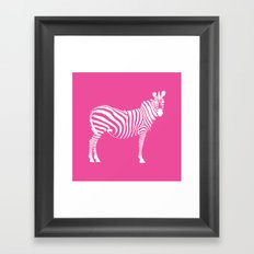 Big Pink Zebra Framed Art Print